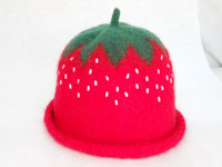 Felt Strawberry Hat